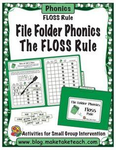 File Folder Phonics- The FLOSS Rule