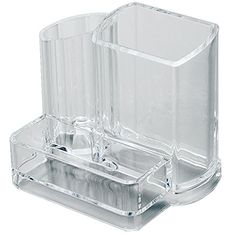 Clear Acrylic Makeup Organizer Arranges Makeup Brushes and Cosmetics 3 Compartment Storage Display Holder By AcryliCase ** BEST VALUE BUY on Amazon