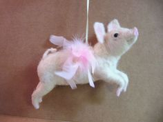 Needle Felted When Pigs Fly by NeverFeltBetterKits on Etsy, $120.00
