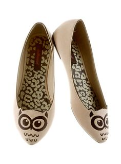Owl Take a Stroll With You Flats by Dollhouse Footwear, BROWN