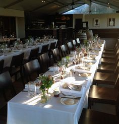 A wedding in the Terrace Restaurant at All Saints Estate