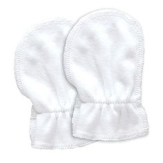 Just Arrived Organic Cotton Baby Mitts 2pk