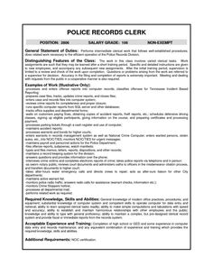 Police Records Clerk Sample Resume Resume Example Simple Format Template For Bookkeeper Sample Monster .