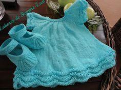 Labores de siempre: Vestido Bebé en algodón