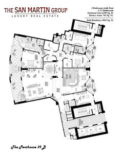 Luxury Apartments Plan 1920's floor plans   full floor luxury apartment   floor plan