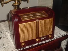 Nice Old RARE 1940's G Marconi Tube Bakelite Am SW Radio Model T34DAX Works Good   eBay