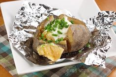 Crock Pot Baked Potatoes #potatoes #crockpot