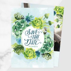 Subtle Succulent | Save the Date | Design by @sberrens | #cards #wedding #savethedate | http://www.mpix.com/cards/wedding/save-the-date/subtle-succulent-date