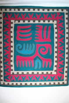 Felted Rug from Kyrgyzstan. Traditional Nomad Carpet. Shyrdak Carpet.