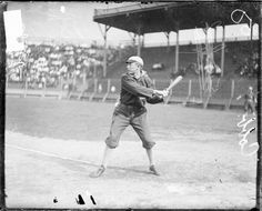 Ty Cobb, baseball player for Detroit Tigers, batting at South Side Park (1907)
