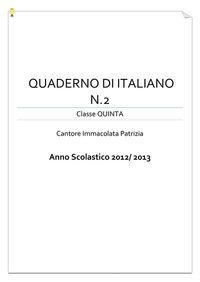 Il quadernone di italiano classe V - seconda parte