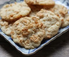 Buttery Special K cookies...my friend Wendy says to make sure to use Special K even though the recipe suggests others would work.