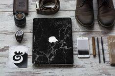 Elegant Black Marble Texture Skin for Apple Macbook Air & Mac Pro - Trendy One of a Kind Gift