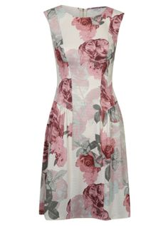 Floral Print Dropped Waist Fit and Flare Dress £18.00