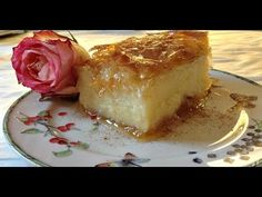 Galaktoboureko the divine UPDATED - Greek Custard dessert - Γαλακτομπούρ. Greek Sweets, Greek Desserts, Party Desserts, Greek Recipes, My Recipes, Sweets Recipes, Easter Recipes, Galaktoboureko Recipe, Greek Cake