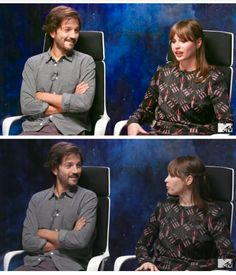 Find a man who looks at you the way Diego Luna looks at Felicity Jones