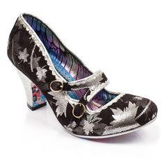 Irregular choice 'Caramelo Silbato' (T) Negro/Plata Patrón Zapatos Medio Tacón Christian Dior, Irregular Choice Shoes, Wow Products, Walk On, Vintage Looks, Shoe Boots, Kitten Heels, Footwear, Pairs