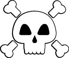 FREE SVG skull and crossbones pirate poison warning Free Stencils, Stencil Templates, Felt Patterns Free, Skull Template, Halloween Shirts For Boys, Pirate Crafts, Felt Bookmark, Fantasias Halloween, Felt Books