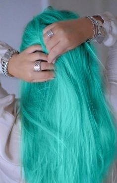 Aqua dyed hair @Tum17blr