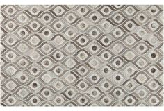 Clea Leather Rug, Winter White