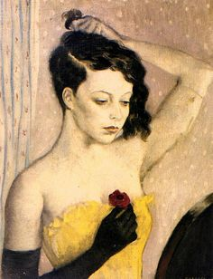 Whistler, Rex (British, 1905-1944) - Girl with a Red Rose