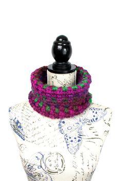 Gehaakte kraag sjaal Cowl Sjaal gehaakte lus sjaal kleurrijke Gehaakte sjaal omvangrijk Gehaakte sjaal Womens Winter Cowl Oversized breien