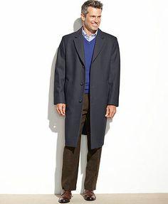 London Fog Coat, Signature Wool-Blend Overcoat, Light Camel