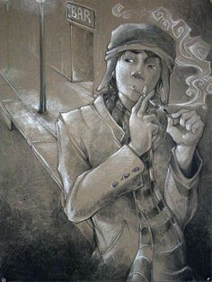 Cool sketch of Holden Caulfield.