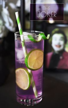The Joker Serves 1 3 oz. grape Jolly Rancher-infused vodka (see below) ¼ oz. lime juice Seltzer To make the infused vodka: Unwrap 10–12 purple Jolly Ranchers and put them in a sealable jar or bottle. Add 1½ cups of vodka, seal, shake, and let sit overnight or until candy fully dissolves when you shake the bottle. Chill until ready to use.