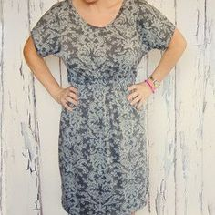 Cinched Waist Knit Dress - easy DIY dress pattern. Learn how to sew a dress that flatters!