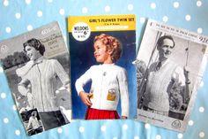 Vintage knitting patterns not pdf knitting patterns, mens ladies childrens knitting patterns, cardigan pattern, pullover pattern, by on Etsy Cardigan Pattern, Vintage Knitting, Cottage Chic, Pattern Paper, Flower Patterns, Etsy Store, Knitting Patterns, Pdf, Magpie