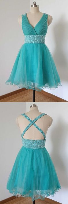 Short Beading Homecoming Dress , Short Prom Dress