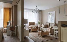 adelaparvu.com despre apartament 2 camere 50 mp, design interior SunWaveStudio, foto Sergey Krasyuk (1) Mini Loft, Home Goods, House Design, Curtains, Living Room, Furniture, Home Decor, Design Interior, Google Translate