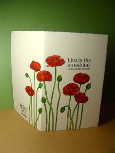 It can be fun to wrap images around notecards- adds an element of surprise.  Stampin' Up! Pleasant Poppies Background Stamp  CODE: AEM004