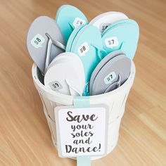 Save your soles and dance! - Awesome wedding flip flop DIY with @fiskars_hq!