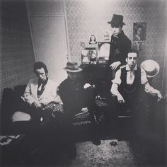 The Clash. In Mick's flat, London, 1979.