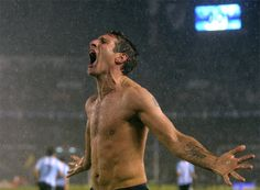 Martin Palermo's last-gasp strike saves Diego Maradona and Argentina Martin Palermo, After Game, American Football, World Cup, Soccer, Life, Yards, Style, Love