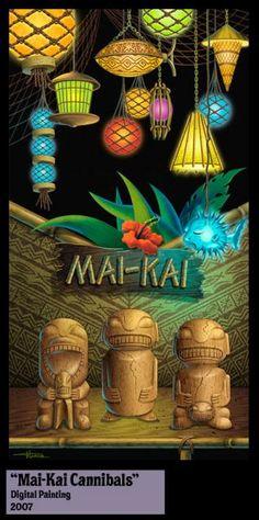 Tiki Bar Art