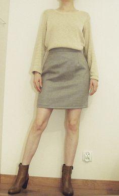wool skirt high waist