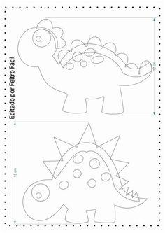 Quiet Book Templates, Quiet Book Patterns, Felt Crafts Patterns, Applique Patterns, Dinosaur Template, Die Dinos Baby, Needle Felting Tutorials, Dinosaur Crafts, Felt Quiet Books