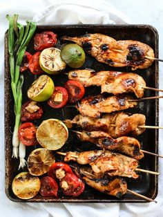 Lime and Chile Butter Chicken Skewers
