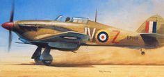Hawker Hurricane Mk IId Trop, 60 Sqn. RAF, Egypt, 1942, by Roy Huxley