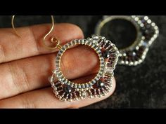 Jewelry OFF! This jewelry DIY tutorial shows you step-by-step how to make circular brick stitch and how to use it in two beautiful hoop earring designs. Jewelry Making Beads, Cute Jewelry, Boho Jewelry, Silver Jewelry, Silver Ring, Fashion Jewelry, Beaded Earrings Patterns, Bead Earrings, Earrings Online