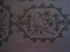 Interesting kutch Embroidery pattern with parrot Peacock Embroidery Designs, Hand Embroidery Patterns Free, Hand Work Embroidery, Embroidery Flowers Pattern, Hand Embroidery Stitches, Embroidery Art, Indian Embroidery, Back Stitch Embroidery, Blackwork