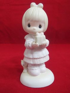 Precious Moments Figurine God Sends The Gift Of His Love Blond Girl #PreciousMoments #Enesco