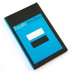 equality, minimal design, black and white, 70s book jacket, seventies graphic design