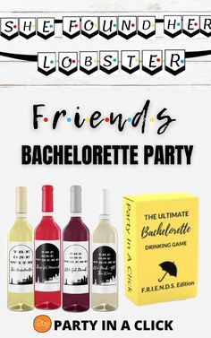 Friends TV Show Themed Bachelorette Party ideas . Plan the perfect bachelorette party for the bride who loves Friends! A gift your bride will love making the party the one with the bachelorette she will never forget! Instant Download and print at home for an easy quick, fun and simple gift for the bride who loves Friends. Friends Theme | Friends Themed | Friends TV Show Bachelorette Party | Bachelorette Party Decor|Friends Party Decorations #friendsthemed #friendstvshow #giftideas…