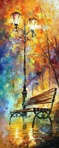 Aura Of Autumn 2 Painting  - Aura Of Autumn 2 Fine Art Print Leonid Afremov