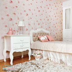 Papel de Paredes para decoração de quarto de bebê e infantil  811004, REF811004, Rosas, flores  | SP, BH, MG, RJ, DF