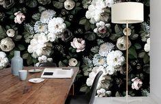 black floral wallpaper ellie cashman cococozy